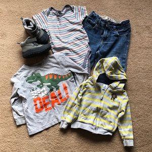 Boys Toddler Clothes Boots Bundle